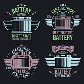 Car Battery Shop  Emblems