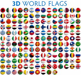 picture of lapel  - Country flags of the world  - JPG