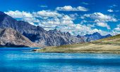 picture of jammu kashmir  - Mountains and Pangong tso  - JPG