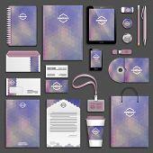 stock photo of letterhead  - Corporate identity template set - JPG