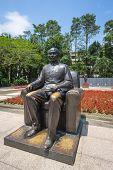 stock photo of emplacements  - Bronze statue of Sun Yat - JPG