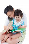 picture of lap  - Image of cute young female with little asian  - JPG