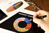 image of anal  - Financial report Financial figures and data on paper - JPG