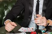 picture of indoor games  - Poker player - JPG
