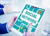 pic of social system  - Social Network Internet Online Society Connecting Social Media Concept - JPG