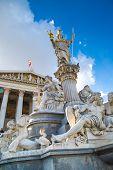 foto of goddess  - Parliament building in Vienna - JPG