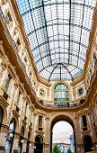 foto of emanuele  - Glass dome of Galleria Vittorio Emanuele in Milan Italy - JPG