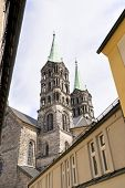 picture of bavaria  - Image of cathedral towers of Bamberg in Bavaria Germany - JPG