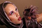 picture of pouty lips  - Beautiful glamorous woman model portrait - JPG