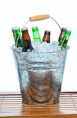 Beer Bucket On Teak Table
