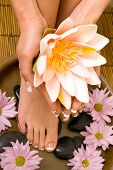 Footcare and handcare at the spa