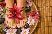 Footcare y consentirse en el spa