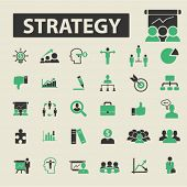 Постер, плакат: strategy icons strategy logo strategy vector strategy flat illustration concept strategy infogra