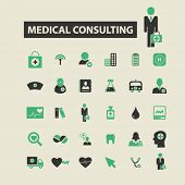 Постер, плакат: medical consulting icons medical consulting logo medical consulting vector medical consulting fla