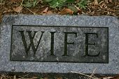 Grave Marker:  Wife