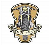 Постер, плакат: cafe racer emblem