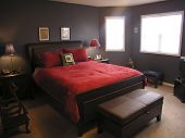 Master Bedroom In Red