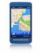 GPS navigator in touchscreen smartphone