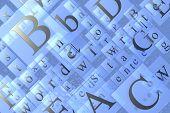 Letters Texture
