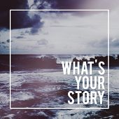 Постер, плакат: What is Your Story Personality Memory Experience Concept