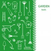 Garden tools vector concept. poster