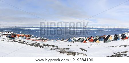Colorful inuit houses