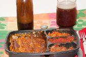 Mikrowelle mexikanisches Essen
