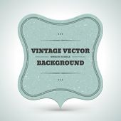 Vintage frame as speech bubble from old textured paper vector background eps 10