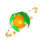 Orange Globe Rss