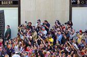 Konzert Medien Fotografen und Fans