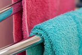 Colorful Towels Hanging To Dry