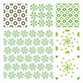 Vector Collection Of 6 Seamless Pattern