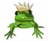 Cartoon Frog With Crown