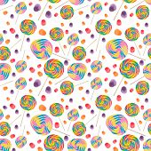 Candy Seamless Wallpaper Background