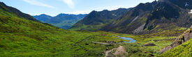 picture of hatcher  - View of Archangel Valley in Hatcher Pass Alaska - JPG