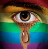 Lgbt Discrimination And Same Sex Victim Of A Hate Crime Concept As A Social Issue Symbol For Civil R poster