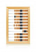 ábaco de madeira vintage vector illustration isolado no fundo branco EPS10. Objetos transparentes um