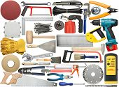 Tools for wood, metal and other construction work.