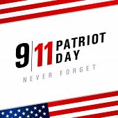 Patriot Day Usa Never Forget 9.11, Vector Poster. Patriot Day, September 11, We Will Never Forget, L poster