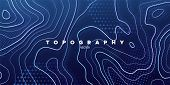 Topography Relief. Abstract Memphis Background. Vector Minimal Illustration. Outline Cartography Lan poster