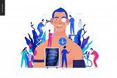 Annual Health Checkups -medical Insurance Illustration -modern Flat Vector Concept Digital Illustrat poster