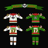 Cutting Fabric For Hockey Form. Hockey Jersey. Template Design For Hockey Equipment. Hockey Sweater  poster