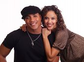 Young Black Man And Hispanic Woman Couple