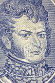 CHILE - CIRCA 1962: Bernardo O'Higgins (1778-1842) on Half Escudo 1962 Banknote from Chile. Chilean