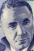 ARMENIA - CIRCA 1998: Viktor Hambardzumyan (1908-1996) on 100 Dram 1998 Banknote from Armenia. Soviet Armenian scientist and one of the founders of theoretical astrophysics.