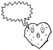 hideous heart cartoon