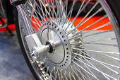 Motorcycle Wheels, Wire Spokes Of A Motorcycle, New Design Modern poster