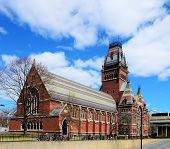 Memorial Hall at Harvard University in Boston, Massachusetts. Memorial Hall was erected in honor of