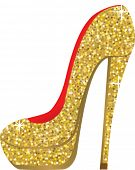 fashion shoes with sequins. vector illustration