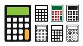 Calculator Icon Set Vector Illustration Design poster